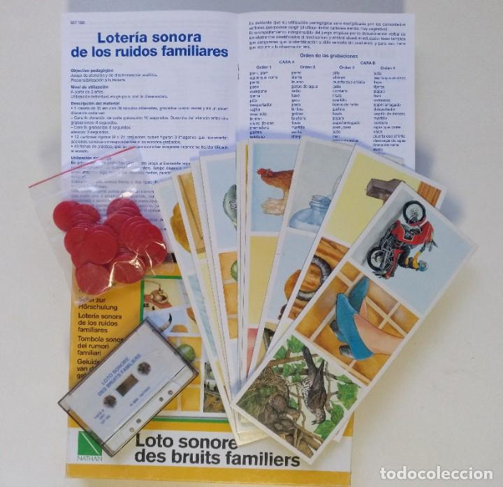 Juegos de mesa: LOTERÍA SONORA EN CASSETTE AÑO 1992 JUEGO DE MESA COMPLETO EN PERFECTO ESTADO CEFA EDUCA RIMA MB - Foto 2 - 216606145