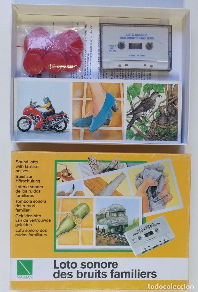 Juegos de mesa: LOTERÍA SONORA EN CASSETTE AÑO 1992 JUEGO DE MESA COMPLETO EN PERFECTO ESTADO CEFA EDUCA RIMA MB - Foto 4 - 216606145