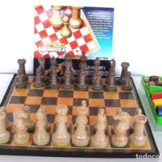 Juegos de mesa: JUEGOS DEL PARCHIS - AJEDREZ - DAMAS. Lote 217066457