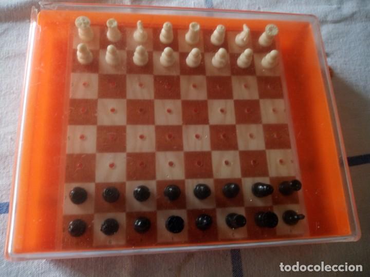Juegos de mesa: Antiguo ajedrez de viaje,pvc. - Foto 5 - 217764573