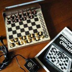 Juegos de mesa: SENSORY CHESS CHALLENGER 8 AJEDREZ AÑOS 80 FIDELITY ELECTRONICS CON INSTRUCCIONES Y TRANSFORMADOR. Lote 217770446