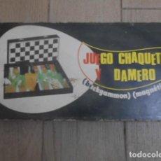 Juegos de mesa: JUEGO CHAQUETE Y DAMERO ( BACKGAMMON ) ( MAGNÉTICO ). Lote 218040808