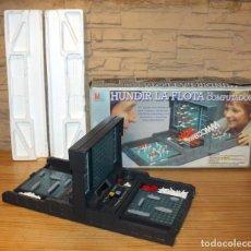 Juegos de mesa: HUNDIR LA FLOTA POR COMPUTADOR - MB JUEGOS - FUNCIONANDO Y EN SU CAJA ORIGINAL. Lote 218998341