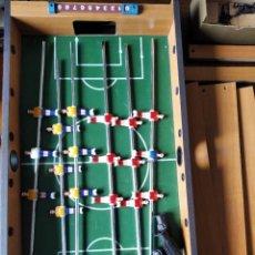 Juegos de mesa: FUTBOLIN DE MADERA GRANDE 72X38CM. - COMPLETO. Lote 219197370