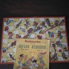Jeux de table: REGLAMENTOS DE LOS JUEGOS REUNIDOS Y CARTÓN JUEGO. ANTIGUOS.. Lote 219204156