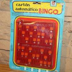 Juegos de mesa: CARTON AUTOMATICO BINGO, DE CHICOS - EN SU BLISTER ORIGINAL - AÑOS 70 / 80 - 6 UNIDADES. Lote 220576490