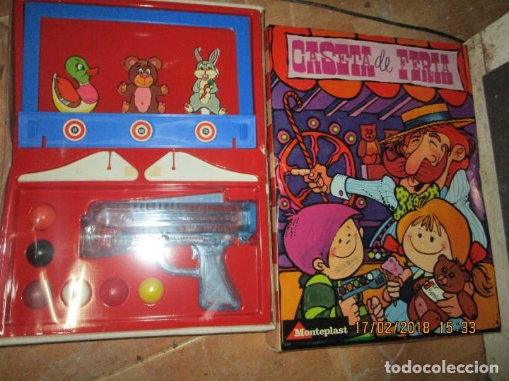 Juegos de mesa: MUY RARO JUGUETE CASETA DE FERIA ANTIGUO JUEGO REALIZADO EN ESPAÑA CON PISTOLA CAJA SIN ABRIR - Foto 8 - 220732311