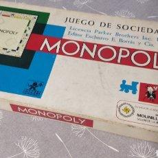 Juegos de mesa: MONOPOLY MADRID AÑOS 70 BORRÁS COMPLETO. Lote 220784881