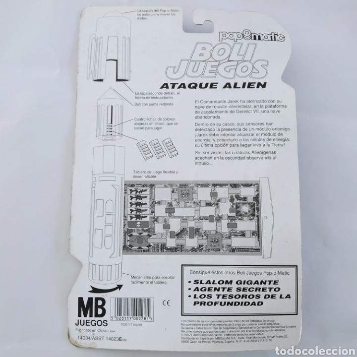 Juegos de mesa: Ataque Alien, Boli Juegos Pop-o-Matic distribuido por MB Juegos, Fabricado por Hasbro, año 1992 - Foto 2 - 221269046