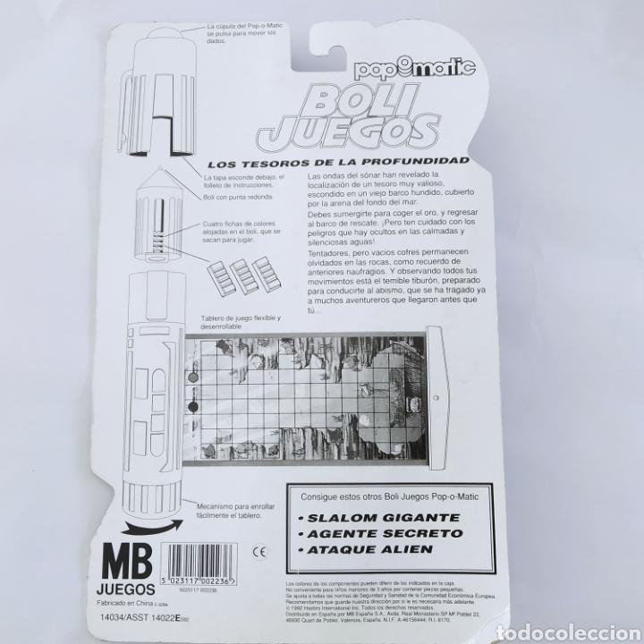 Juegos de mesa: Los tesoros de la profundidad, Boli Juegos Pop-o-Matic distribuido por MB Juegos, Hasbro, año 1992 - Foto 2 - 221269162