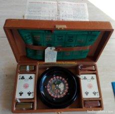 Juegos de mesa: MALETIN PIEL ESTUCHE RULETA SALTER. CIMA UBRIQUE. Lote 221371415