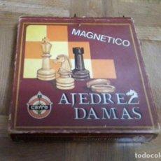 Juegos de mesa: AJEDREZ Y DAMAS MAGNETICO CAYRO 15 X 15 CM. Lote 221638785