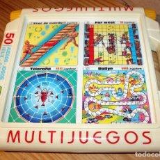 Juegos de mesa: MULTIJUEGOS DE CHICOS - 50 JUEGOS - EN SU CAJA ORIGINAL - FUNCIONANDO - AÑOS 80. Lote 255539530