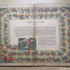Juegos de mesa: JUEGO DE LA OCA. TABLERO N° 923. AÑOS 1890/1912. LITOGRAFÍA HIJOS PALUZIÉ. BARCELONA. Lote 221955412