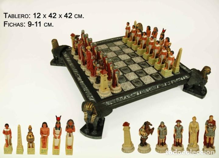 Juegos de mesa: Ajedrez. Egipcios-Romanos. 42x42x12cm - Foto 2 - 222382272