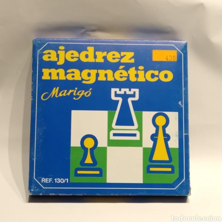 Juegos de mesa: Antiguo ajedrez magnético de viaje de la marca Marigó, referencia 130/1, años 70, nuevo a estrenar - Foto 4 - 222715327