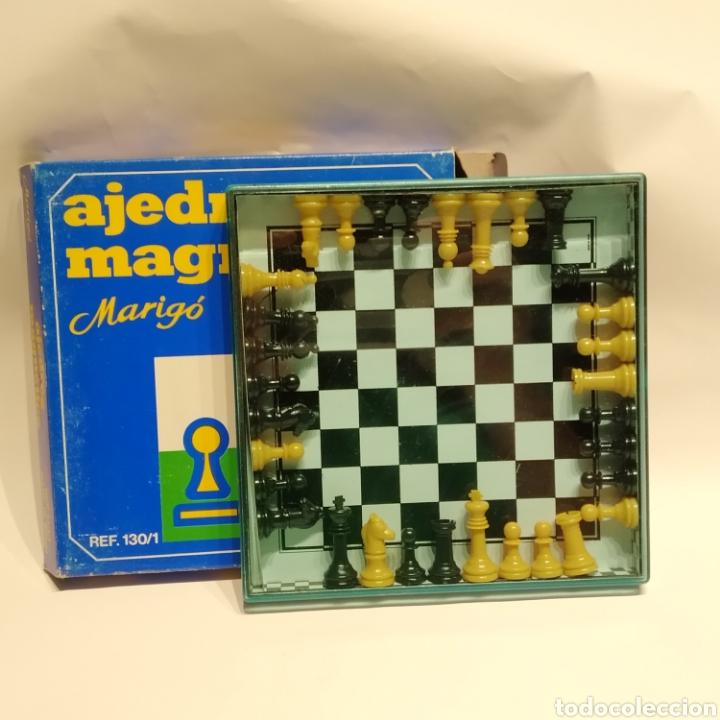 ANTIGUO AJEDREZ MAGNÉTICO DE VIAJE DE LA MARCA MARIGÓ, REFERENCIA 130/1, AÑOS 70, NUEVO A ESTRENAR (Juguetes - Juegos - Juegos de Mesa)