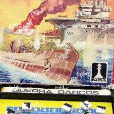 Juegos de mesa: JUEGO MAGNÉTICO GUERRA BARCOS, DE RIMA, MADE IN SPAIN. ORIGINAL, AÑOS 70. INCLUYE 38 BARCOS, MANUAL. Lote 222735712
