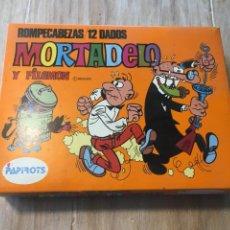 Juegos de mesa: JUEGO DE ROMPECABEZAS MORTADELO Y FILEMON DADOS. PAPIROTS REF.4600. Lote 222735846