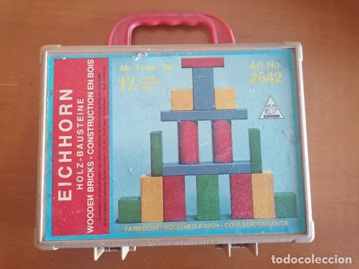 JUEGO MESA CONSTRUCCION MADERA * EICHHORN * EN SU MALETIN * MOD. 2842 * MADE GERMANY (Juguetes - Juegos - Juegos de Mesa)