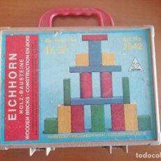 Juegos de mesa: JUEGO MESA CONSTRUCCION MADERA * EICHHORN * EN SU MALETIN * MOD. 2842 * MADE GERMANY. Lote 222750485