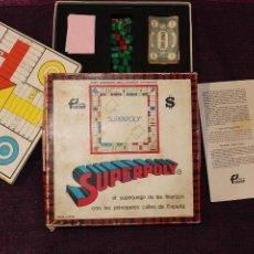Juegos de mesa: ANTIGUO JUEGO DE MESA SUPERPOLY DE FALOMIR-CASI COMPLETO POR ALGUNA FICHA. Lote 225887523