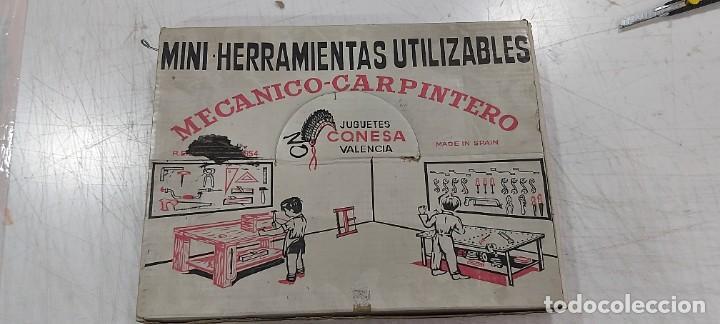 ANTIGUO JUEGO DE MINI HERRAMIENTAS UTILIZABLES MECANICO CARPINTERO CONESA (Juguetes - Juegos - Juegos de Mesa)