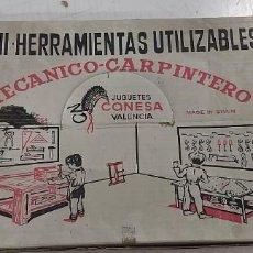 Juegos de mesa: ANTIGUO JUEGO DE MINI HERRAMIENTAS UTILIZABLES MECANICO CARPINTERO CONESA. Lote 226795940