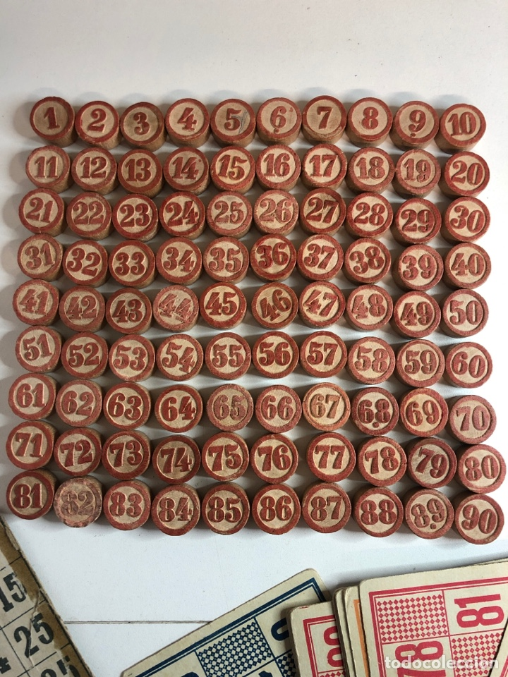 Juegos de mesa: Antiguo juego de bingo LOTTO con todas la fichas originales y cartones - Foto 2 - 227822045