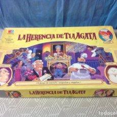Juegos de mesa: TAMAÑO GRANDE..ANTIGUO JUEGO LA HERENCIA DE LA TIA AGATA DE MB. AÑO 1994. ESTÁ COMPLETO. Lote 231414815