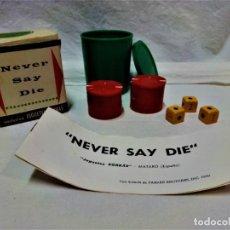 Juegos de mesa: JUEGO NEVER SAY DIE,EXCLUSIVA JUGUETES BORRÁS-MATARÓ.LICENCIA PARKER BROTHERS,INC,AÑO 1959.. Lote 231798745