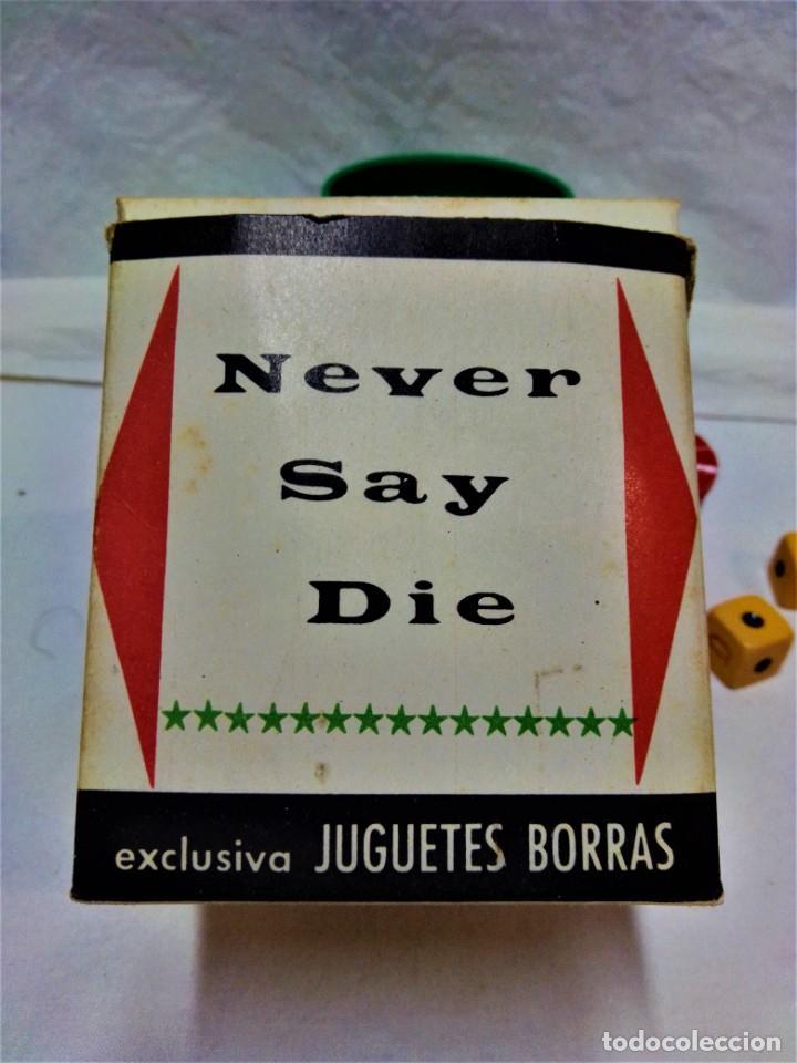 Juegos de mesa: JUEGO NEVER SAY DIE,EXCLUSIVA JUGUETES BORRÁS-MATARÓ.LICENCIA PARKER BROTHERS,INC,AÑO 1959. - Foto 2 - 231798745
