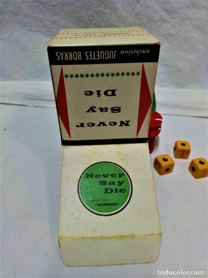 Juegos de mesa: JUEGO NEVER SAY DIE,EXCLUSIVA JUGUETES BORRÁS-MATARÓ.LICENCIA PARKER BROTHERS,INC,AÑO 1959. - Foto 6 - 231798745