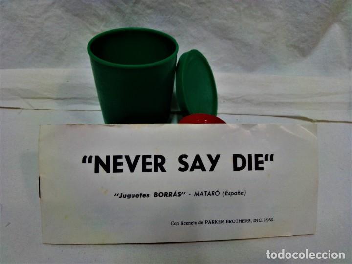 Juegos de mesa: JUEGO NEVER SAY DIE,EXCLUSIVA JUGUETES BORRÁS-MATARÓ.LICENCIA PARKER BROTHERS,INC,AÑO 1959. - Foto 7 - 231798745