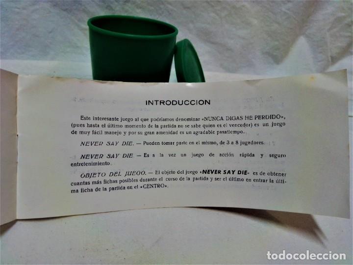 Juegos de mesa: JUEGO NEVER SAY DIE,EXCLUSIVA JUGUETES BORRÁS-MATARÓ.LICENCIA PARKER BROTHERS,INC,AÑO 1959. - Foto 8 - 231798745