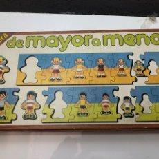 Juegos de mesa: PUZZLE DE MADERA DE MAYOR A MENOR EDUCA 89 JUEGO ANTIGUO. Lote 232031120