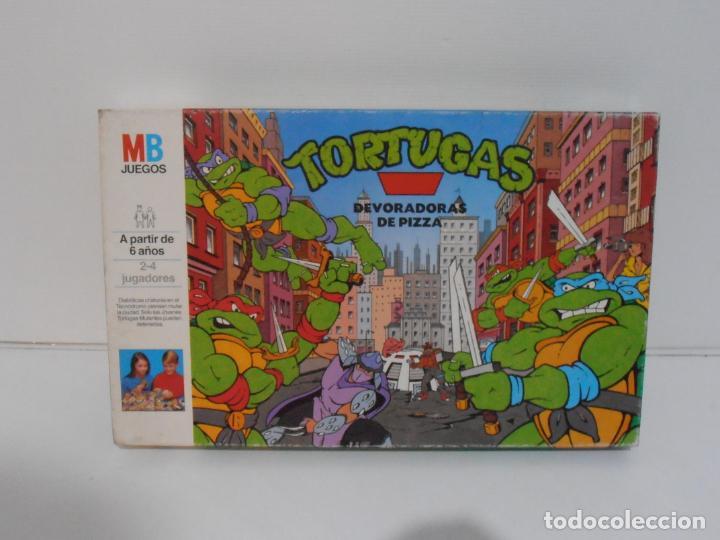 Juegos de mesa: JUEGO DE MESA, TORTUGAS NINJA DEVORADORAS DE PIZZA, MB JUEGOS, COMPLETO, AÑOS 90 - Foto 6 - 232804907