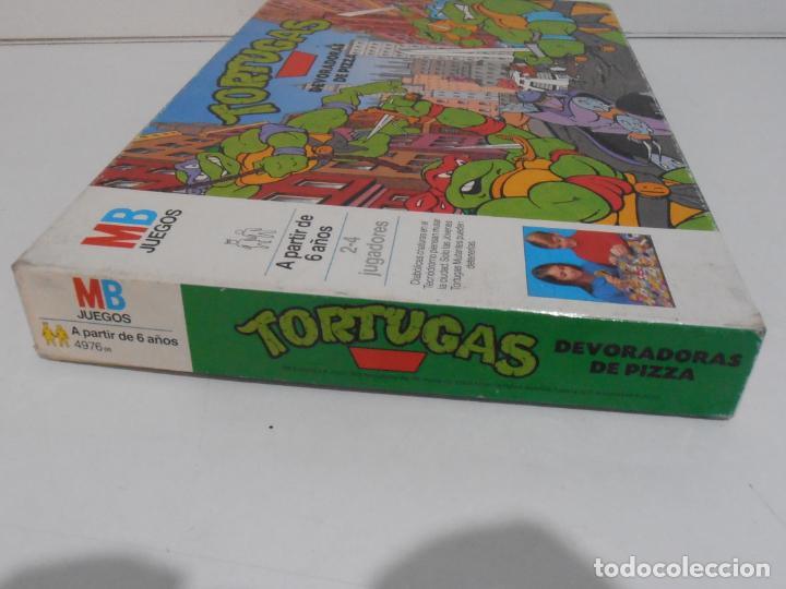 Juegos de mesa: JUEGO DE MESA, TORTUGAS NINJA DEVORADORAS DE PIZZA, MB JUEGOS, COMPLETO, AÑOS 90 - Foto 7 - 232804907