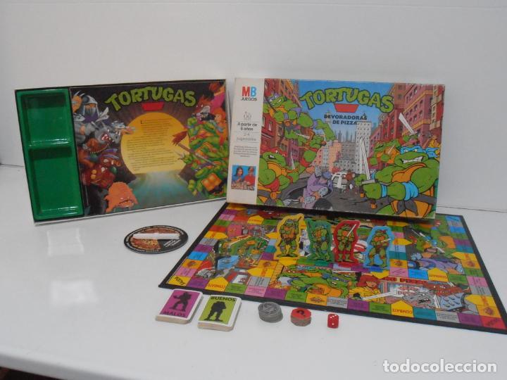 Juegos de mesa: JUEGO DE MESA, TORTUGAS NINJA DEVORADORAS DE PIZZA, MB JUEGOS, COMPLETO, AÑOS 90 - Foto 11 - 232804907