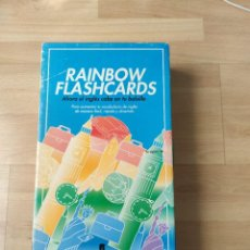 Jogos de mesa: JUEGO PARA INCREMENTAR VOCABULARIO INGLÉS RAINBOW FLASHCARDS. Lote 234462485