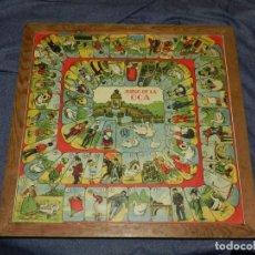 Juegos de mesa: (M) JUEGO DE LA OCA AÑOS 40, TABLERO JUEGO DE LA OCA / AJEDREZ, 35X35 CM, SEÑALES DE USO. Lote 234654830