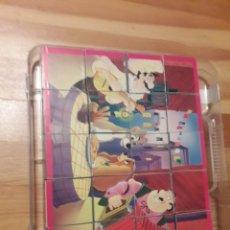Juegos de mesa: DISNEY JUEGOS PUZZLE CUBOS CLASICOS BAMBI DUMBO LIBRO SELVA DAMA VAGABUNDO EN MALETIN. Lote 235146340