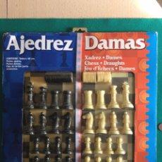 Juegos de mesa: AJEDREZ Y DAMAS, TODO NUEVO Y PRECINTADO, MARCA FOURNIER. Lote 236421105