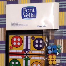 """Juegos de mesa: PEQUEÑO PARCHÍS PUBLICITARIO DE """"FONT VELLA"""". Lote 236433675"""