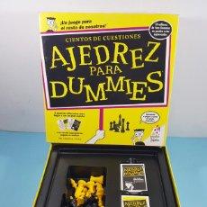 Jeux de table: CIENTOS DE CUESTIONES AJEDREZ PARA DUMMIES, POPULAR DE JUGUETES, TABLERO+FICHAS+TARJETA, COMPLETO. Lote 239483085