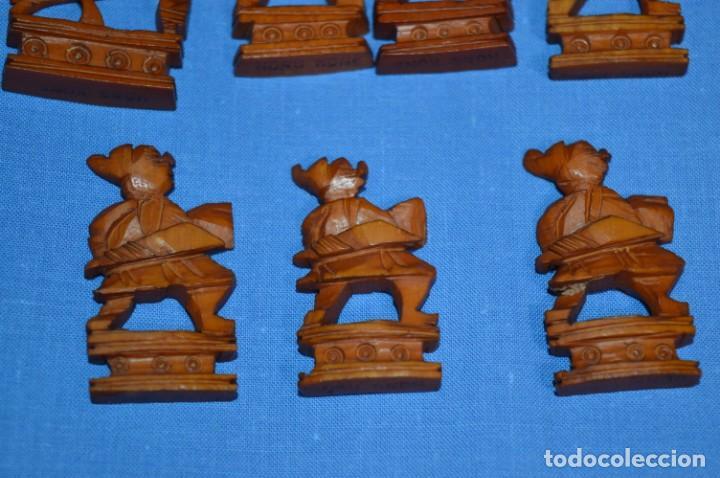 Juegos de mesa: Antiguo ESTUCHE/CAJA AJEDREZ / Piezas en hueso o similar, talladas cada una a mano ¡Precioso, MIRA! - Foto 20 - 240083890