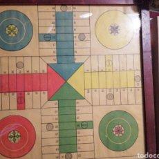 Juegos de mesa: PARCHÍS ANTIGUO ENMARCADO MADERA 34X34. Lote 240166480