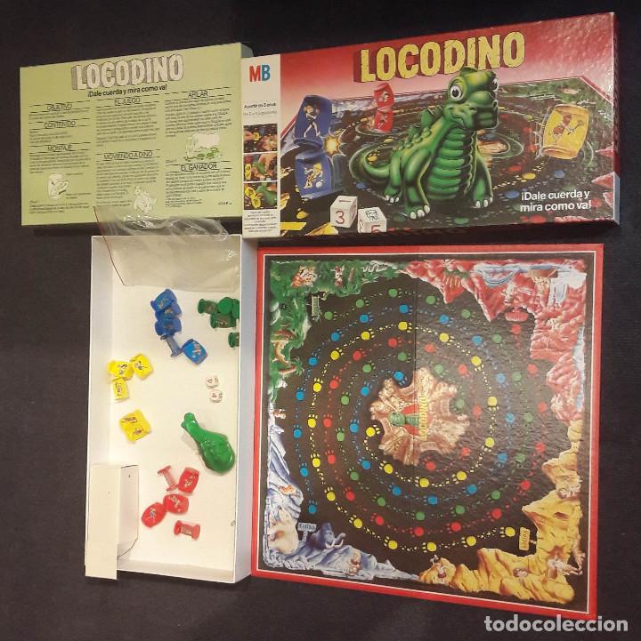 LOCODINO COMPLETO MB JUEGOS (DINOSAURIO NO FUNCIONA) (Juguetes - Juegos - Juegos de Mesa)