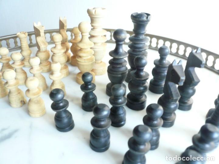 Juegos de mesa: ANTIGUO AJEDREZ PEQUEÑO. FICHAS DE MADERA TIPO REGENCIA. EN CAJA Y SIN TABLERO. COMPLETO - Foto 3 - 240270495