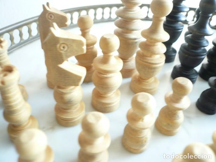 Juegos de mesa: ANTIGUO AJEDREZ PEQUEÑO. FICHAS DE MADERA TIPO REGENCIA. EN CAJA Y SIN TABLERO. COMPLETO - Foto 4 - 240270495